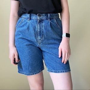 CHIC Vintage High Rise Mom Shorts Long Inseam 30""
